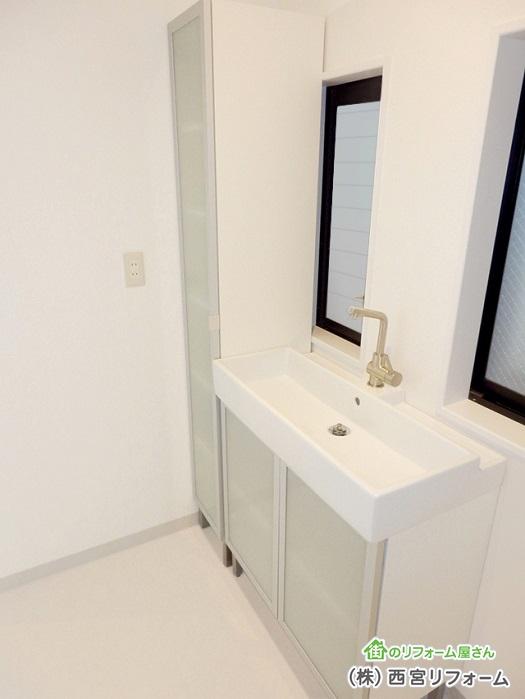 洗面所の拡張リフォーム