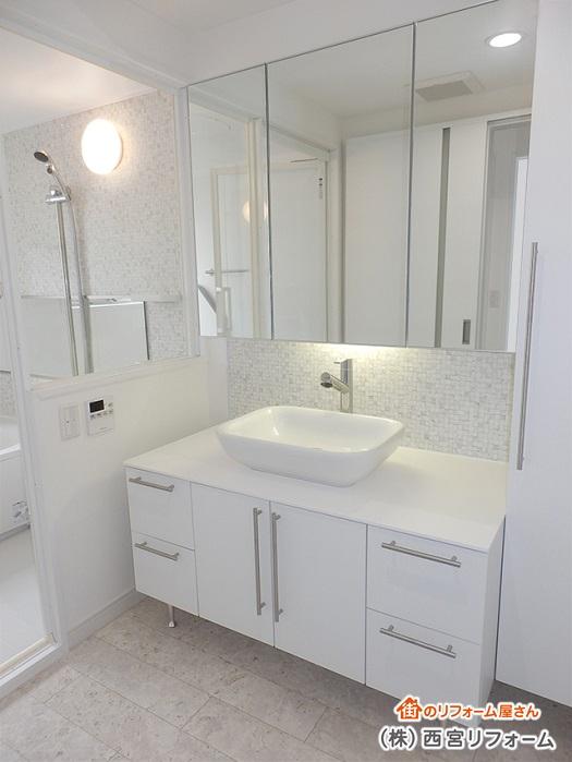 洗面所スペースの間口( 横幅 )の拡張